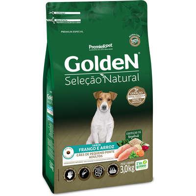 Ração Seca PremieR Pet Golden Seleção Natural para Cães Adultos Mini Bits- 3KG
