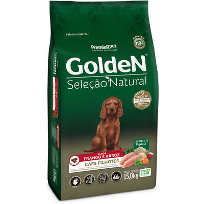 Ração Seca PremieR Pet Golden Seleção Natural para Cães Filhotes- 15KG