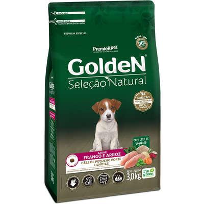 Ração Seca PremieR Pet Golden Seleção Natural para Cães Filhotes Mini Bits- 3KG