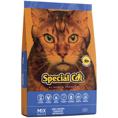 Ração Special Cat Mix Premium para Gatos Adultos- 10,1KG