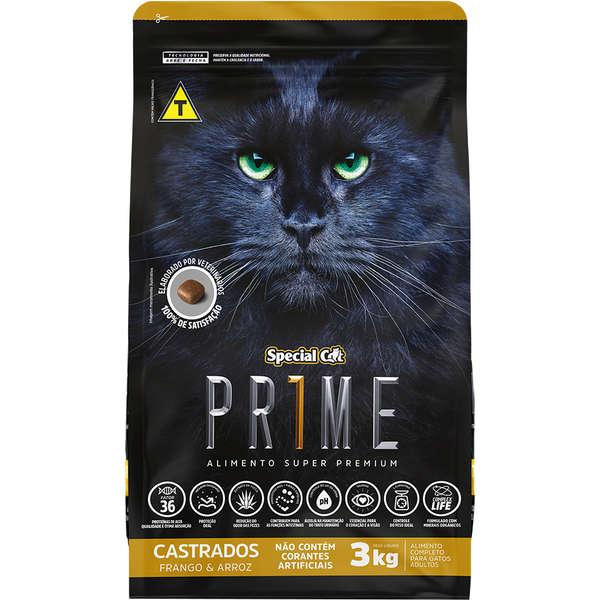 Ração Special Cat Prime Frango e Arroz para Gatos Adultos Castrados 10,1KG