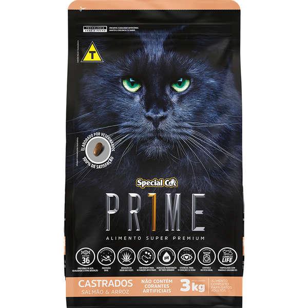 Ração Special Cat Prime Salmão e Arroz para Gatos Adultos Castrados 10,1KG