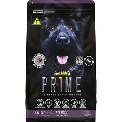 Ração Special Dog Prime para Cães Sênior de Raças Pequenas- 3KG