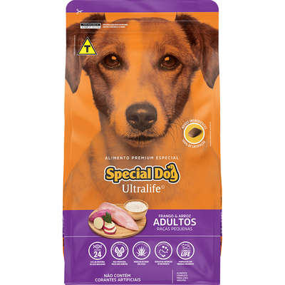 Ração Special Dog Ultralife Frango e Arroz para Cães Adultos Raças Pequenas- 1KG
