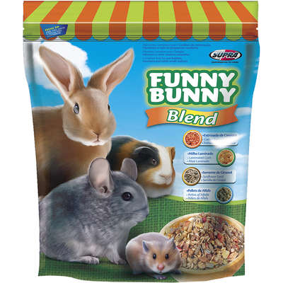 Ração Supra Funny Bunny Blend Coelhos e Pequenos Roedores 500G