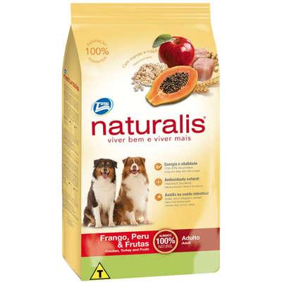 Ração Total Naturalis Frango, Peru e Frutas para Cães Adultos 15KG
