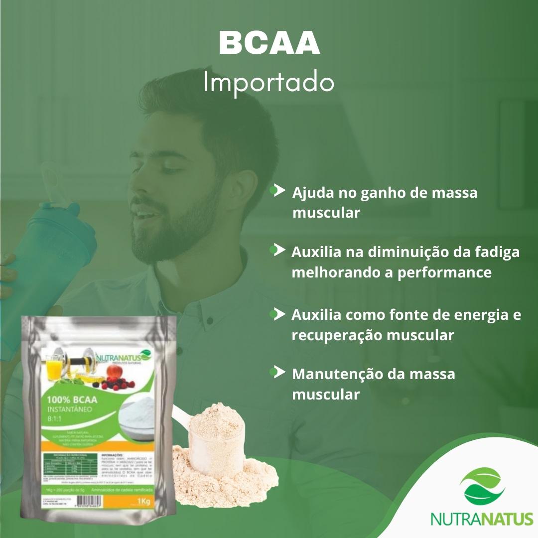 BCAA Puro Importado em Pó 8:1:1 Instantâneo 1kg