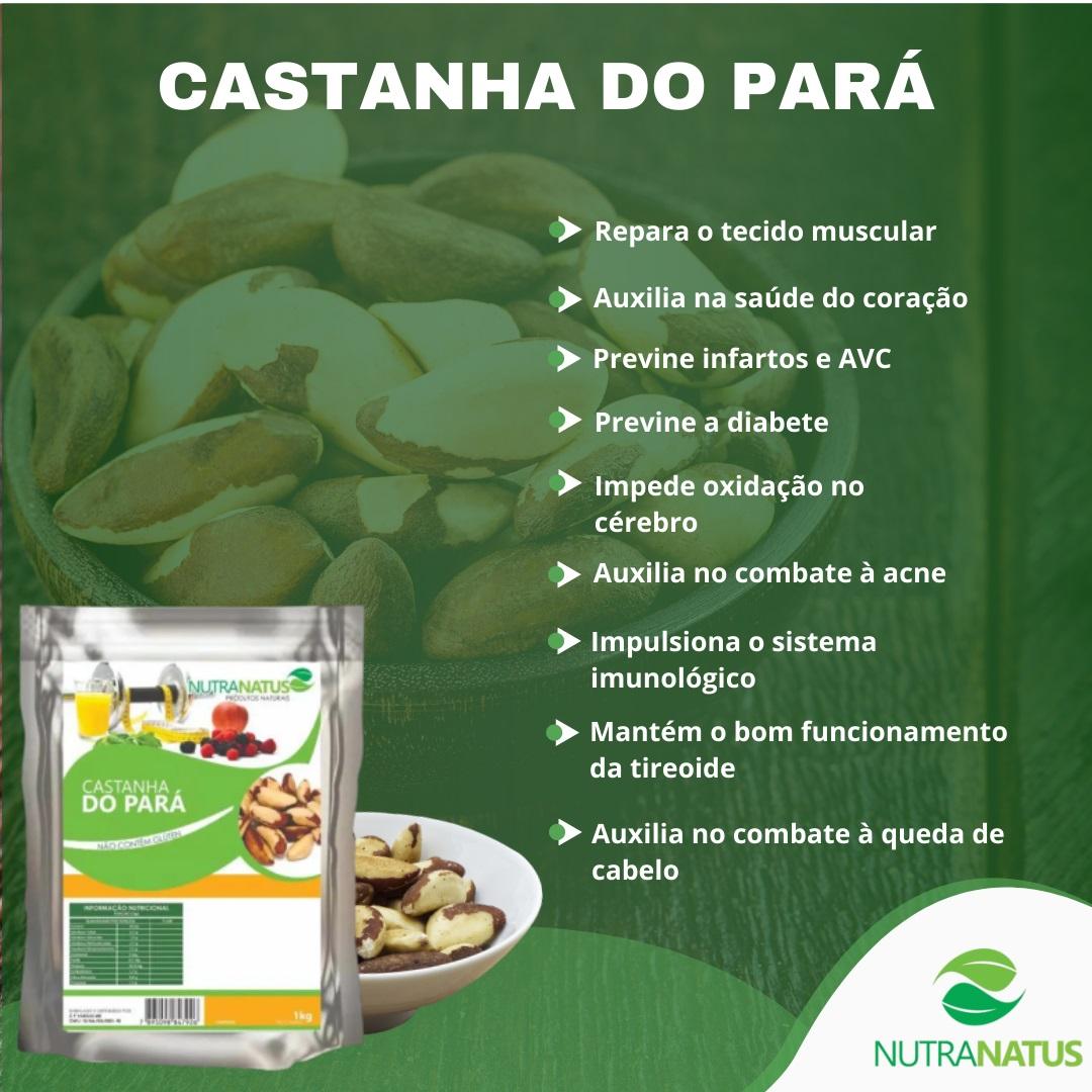 Castanha Do Pará 1kg - Inteira Média Castanha Do Brasil