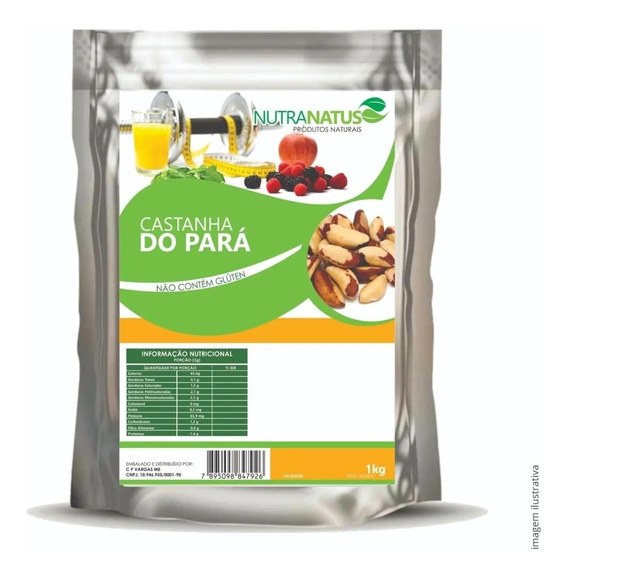 Castanha Do Pará Sem Casca 1kg Inteira Média