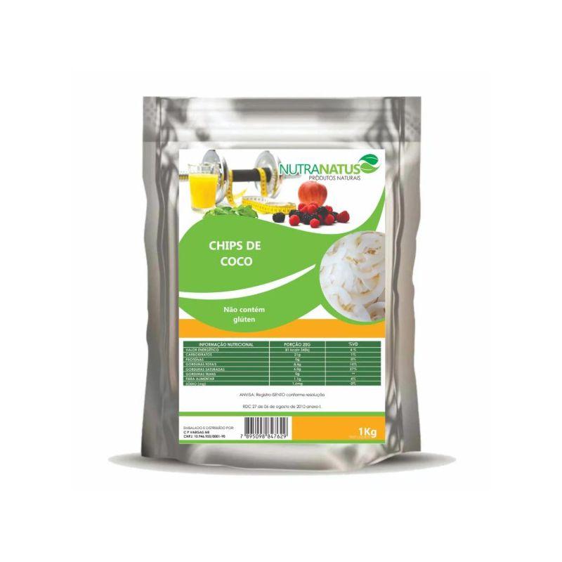Coco Chips 1 Kg - Desidratado Original sem Açúcar Premium