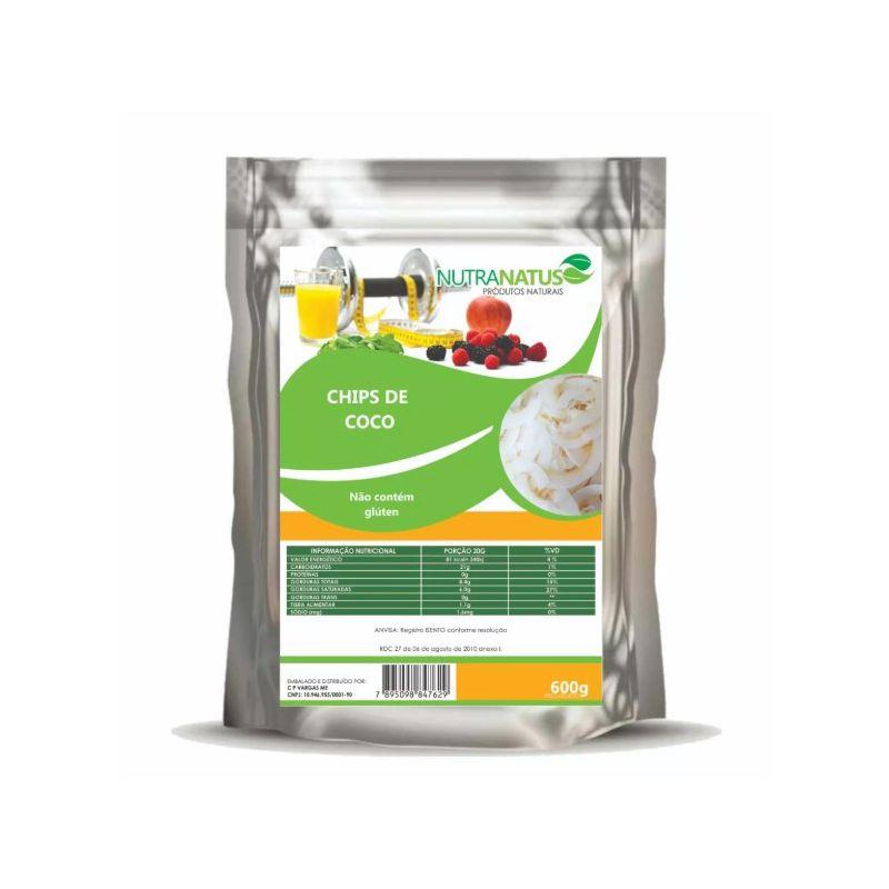 Coco Chips 500g - Desidratado Original sem Açúcar Premium