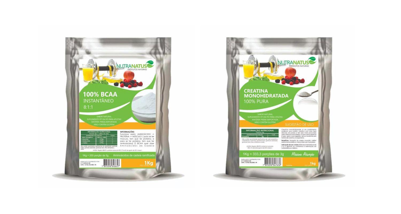 Combo BCAA 8:1:1 Puro 1kg + Creatina Pura Importada 1kg