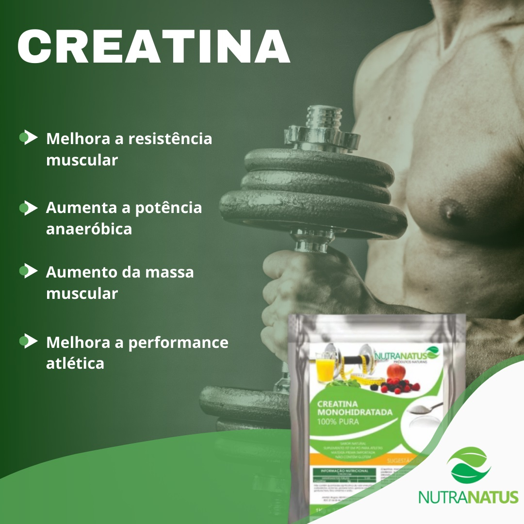 Combo Creatina Pura 1kg + Glutamina 1kg + Palatinose 1kg