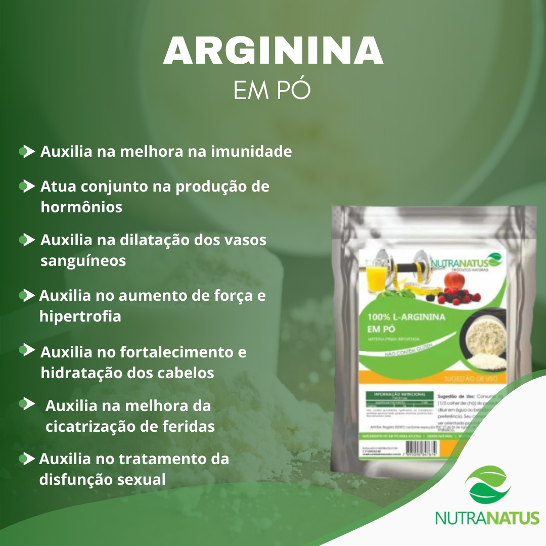 Combo Glutamina Pura 600g + Arginina Hcl Pura 600g