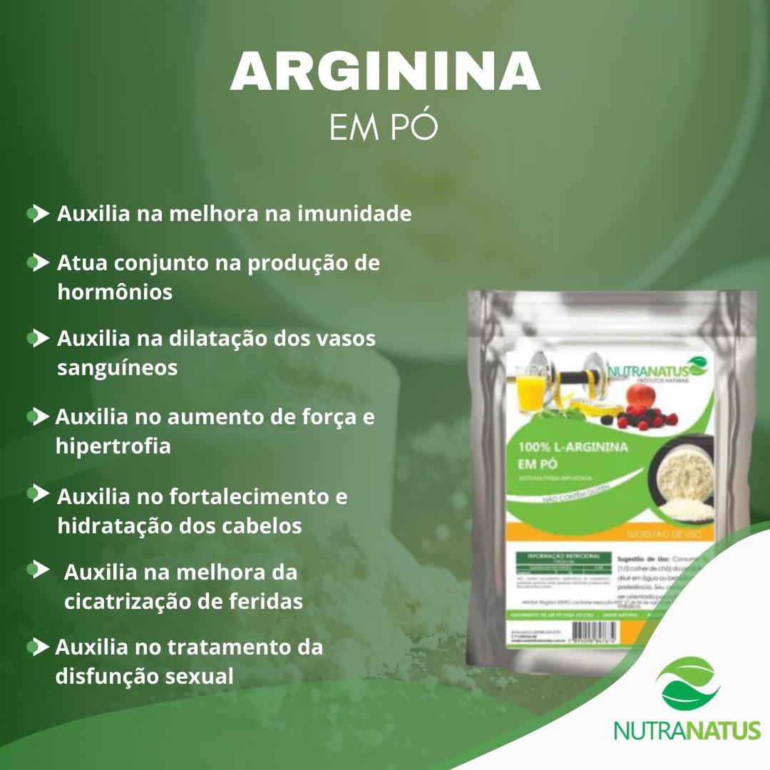 Combo L-Carnitina Pura 200g + Arginina Hcl 1kg Pura