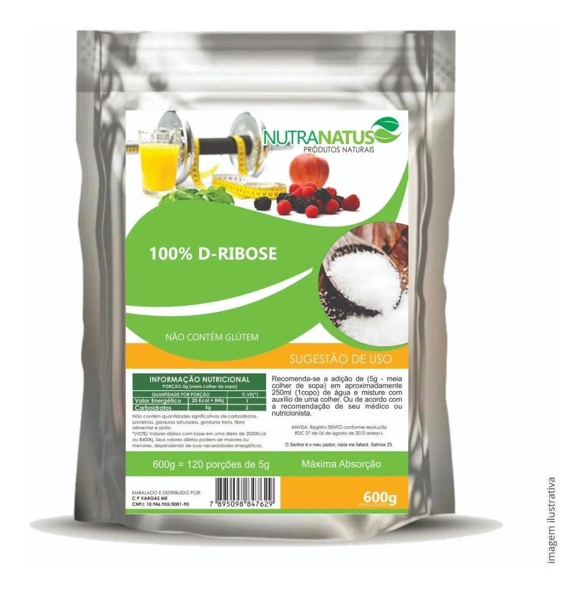 D-ribose Pura 1kg Importada + Brinde