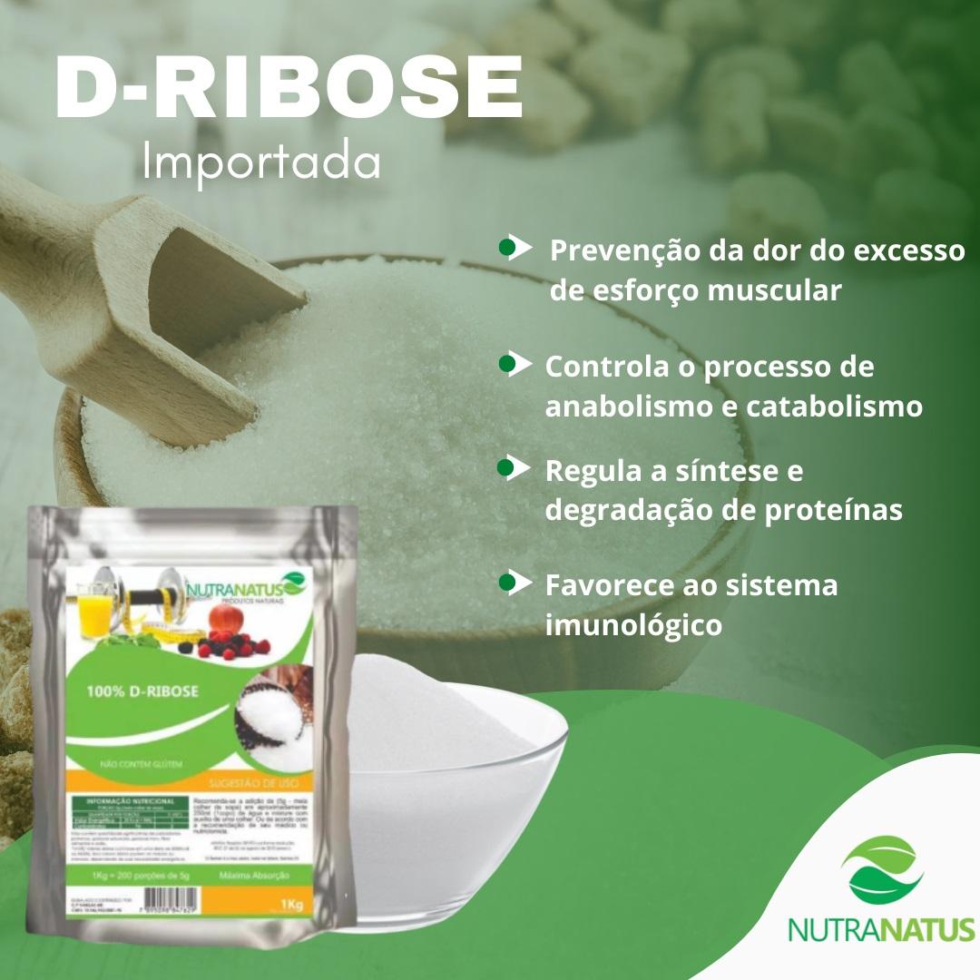 D-ribose Pura 1kg Importada Com Laudo + Brinde