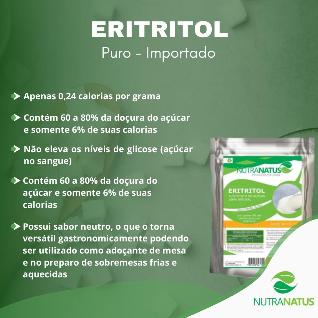Eritritol Puro 1kg Dieta Sem Calorias Low Carb Natural