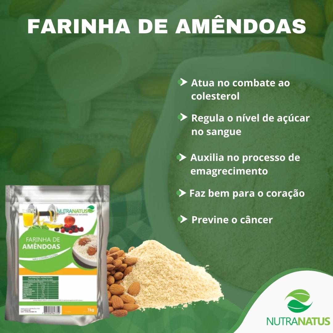 Eritritol Puro 2kg + Farinha De Amêndoas Pura 1kg