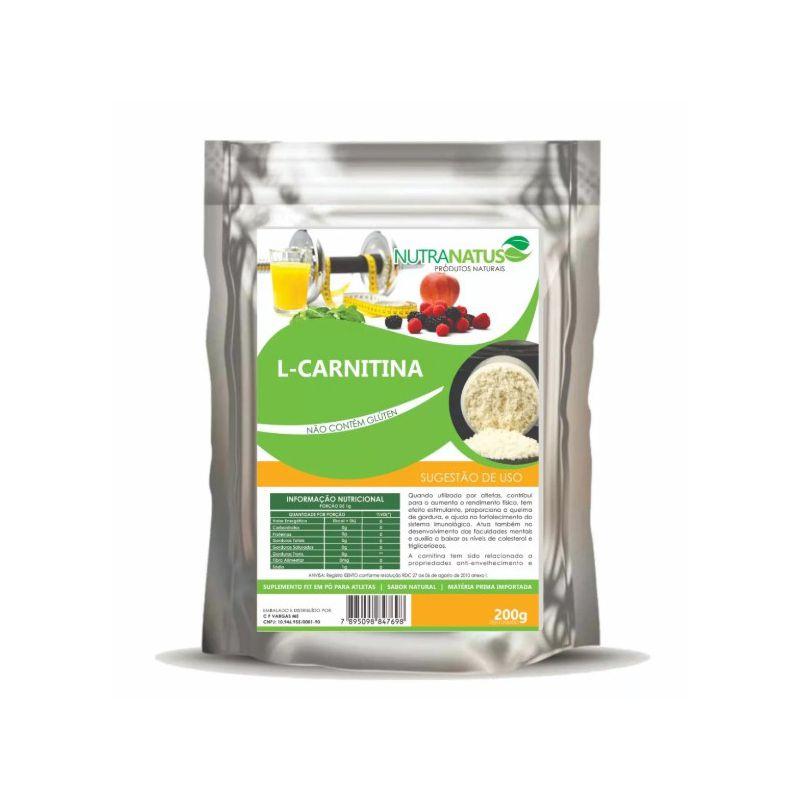 L- Carnitina Pura 200g Importada Termogênico