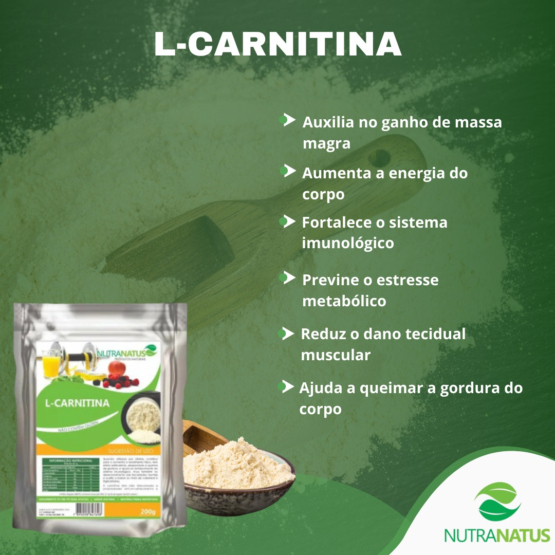 L Carnitina Pura Pó Importada Termogênico 1kg