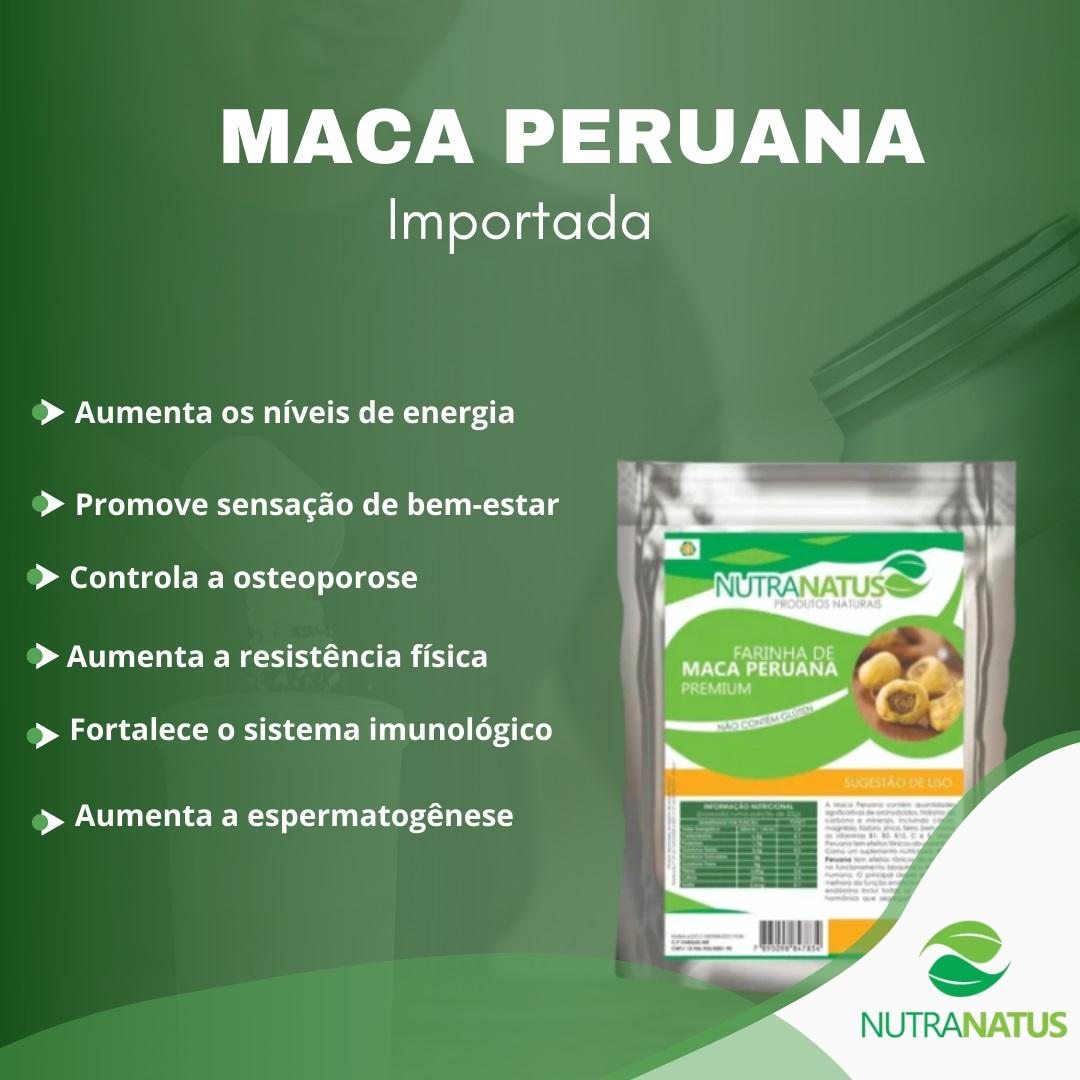 Maca Peruana Em Pó 2kg 100% Pura + Brinde