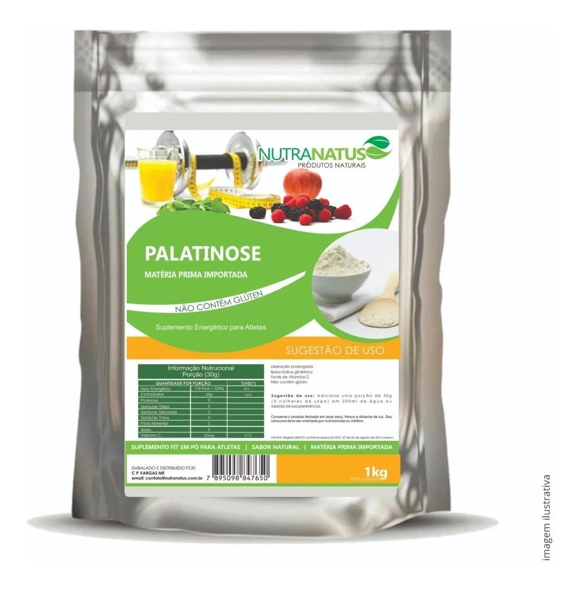 Palatinose Natural 3kg Pré Treino Com Laudo