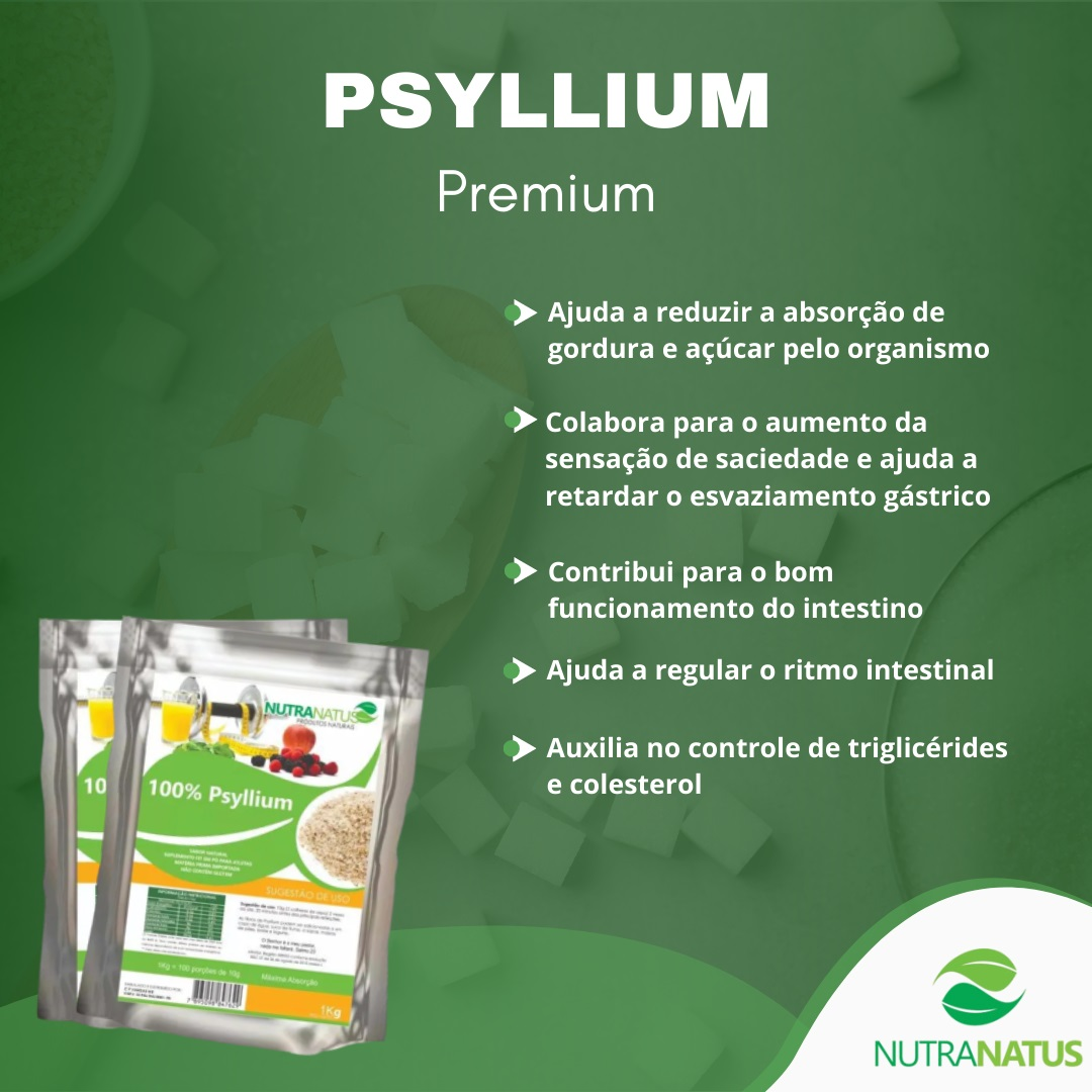 Psyllium Husk Puro Granulado Premium 1kg