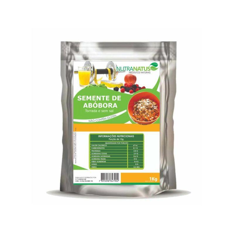 Semente de Abóbora 1kg Torrada sem Sal sem Casca Premium