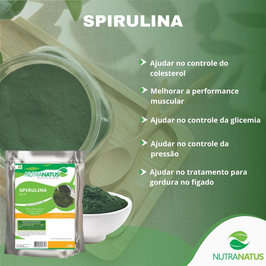 Spirulina Pura Importada 1kg Com Laudo + Brinde