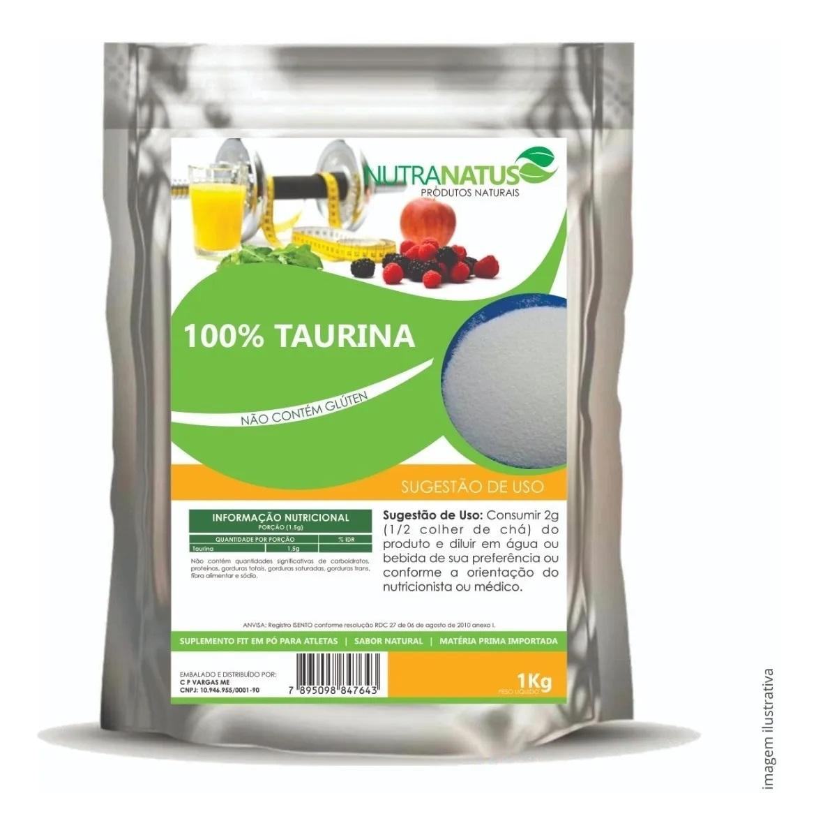 Taurina Pó Pura Importada 1kg  Preço Promocional