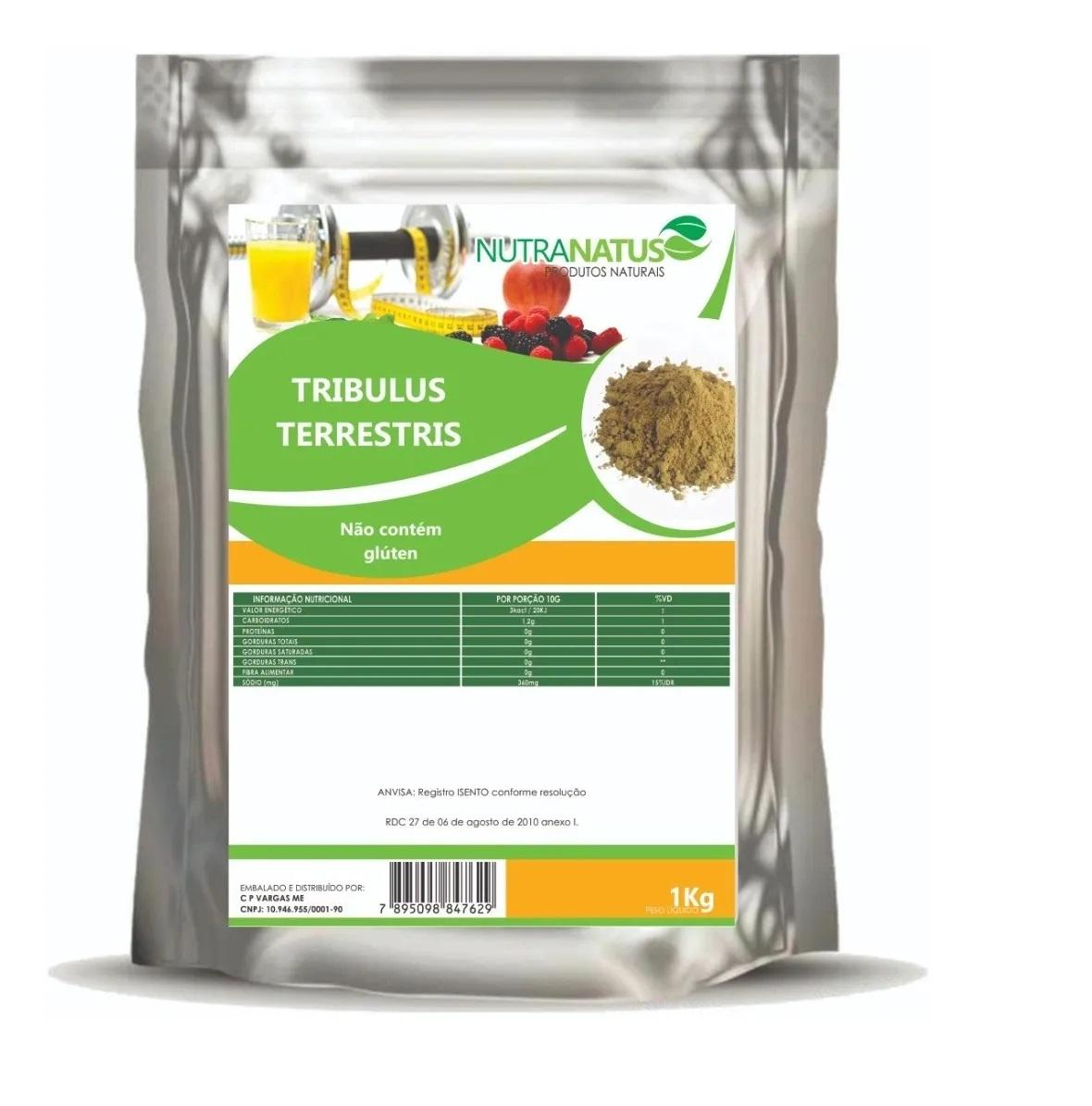 Tribulus Terrestris 1 Kg Puro Importado + Brinde Pronta Entr