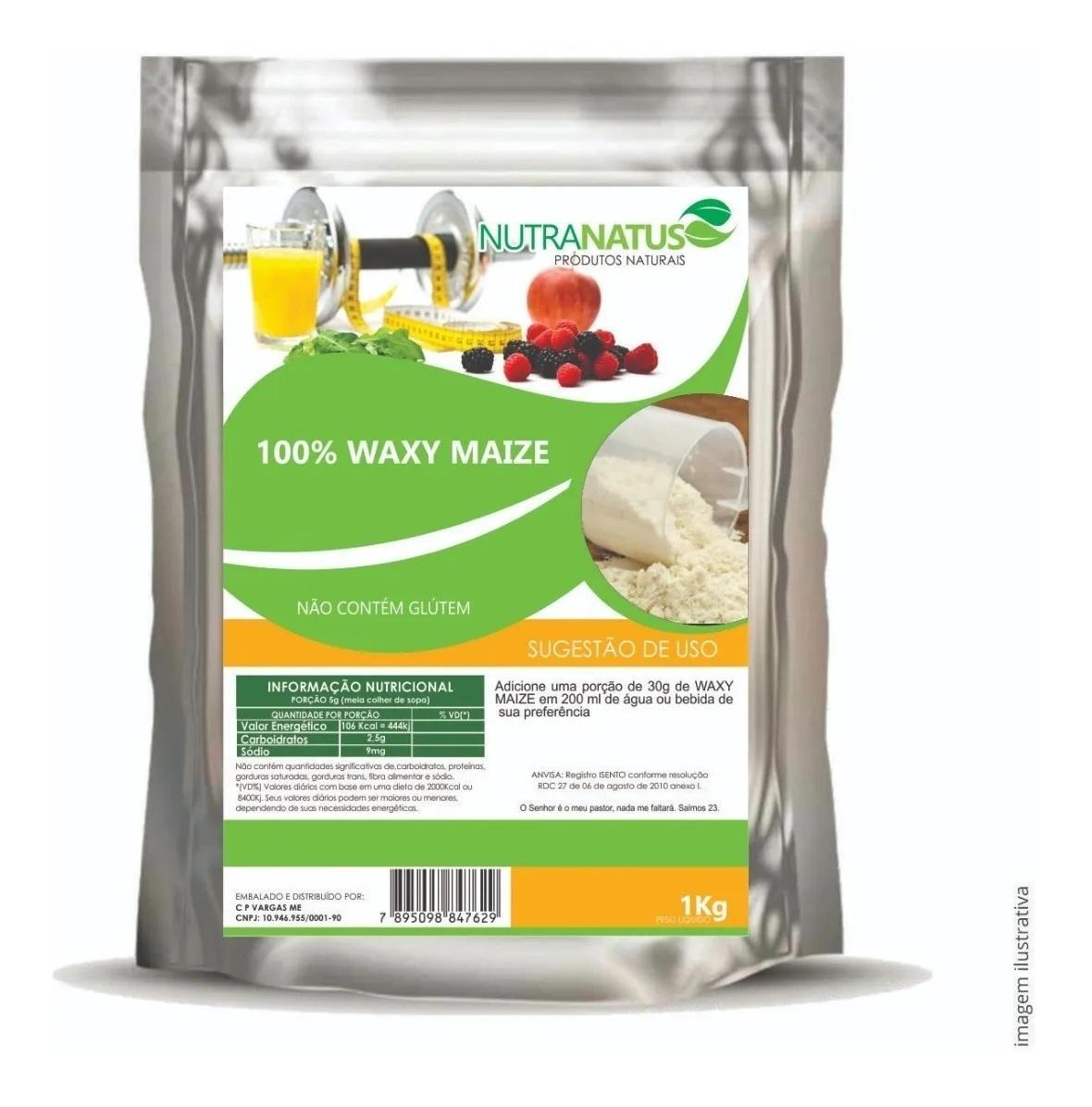 Waxy Maize Puro 2kg - Natural + Brinde