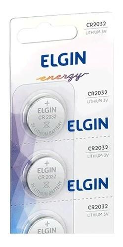 10 Baterias Cr2032 Elgin 3v Moeda Original Kit