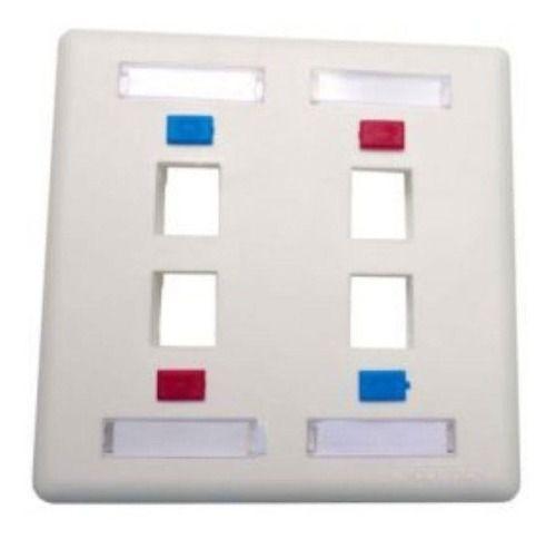 10 Espelho 4x4 Com 4 Saidas Para Keystone Branco
