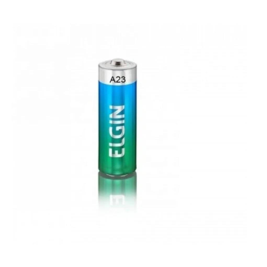 10 Pilhas Baterias Elgin 12v A23 Alcalina Controle Portão Alarme