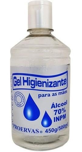 12 Álcool Gel Proervas 500g Higienizador De Mãos