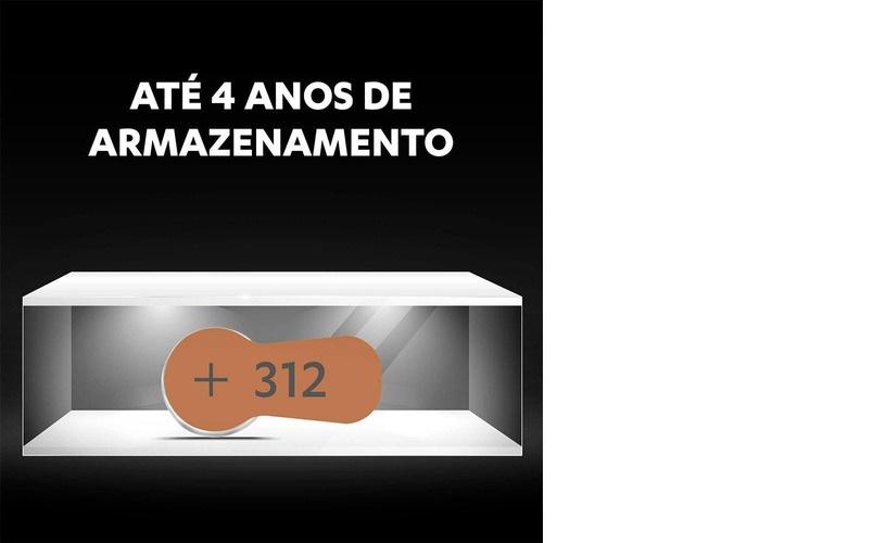 12 Bateria 312 Para Aparelho Auditivo Duracell Original