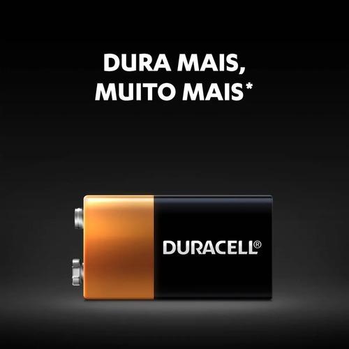 12 Bateria 9v Duracell Pilha Alcalina Mn1604b1Original