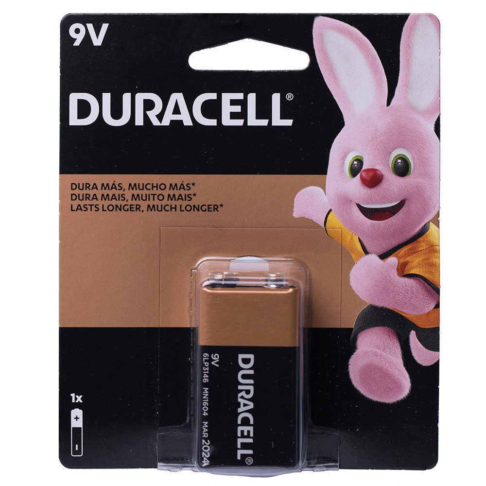 12 Bateria Duracell Pilha Alcalina 9 Volts Mn1604b1