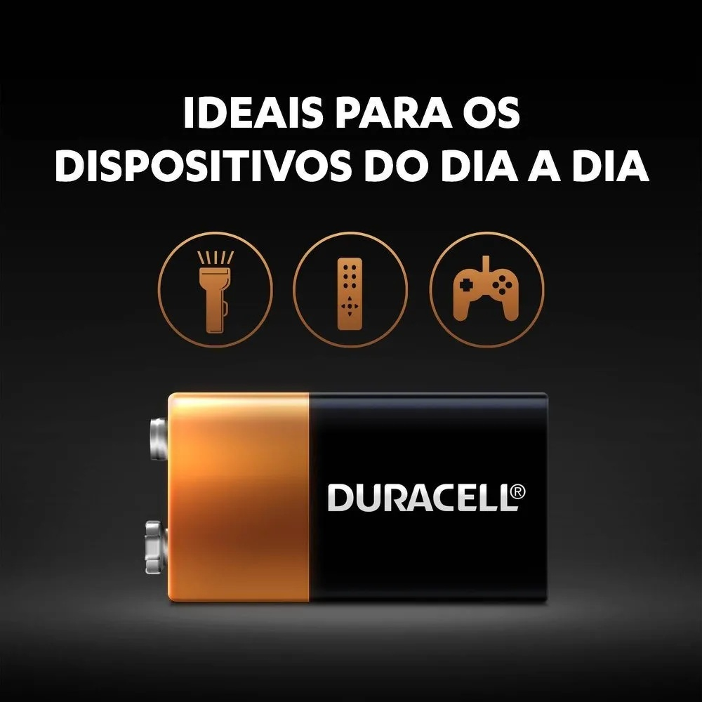 12 Bateria Duracell Pilha Alcalina 9V Mn1604b1