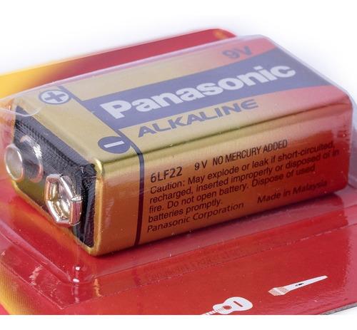 12 Pilha Bateria 9V Panasonic Alcalina Original Revenda Kit