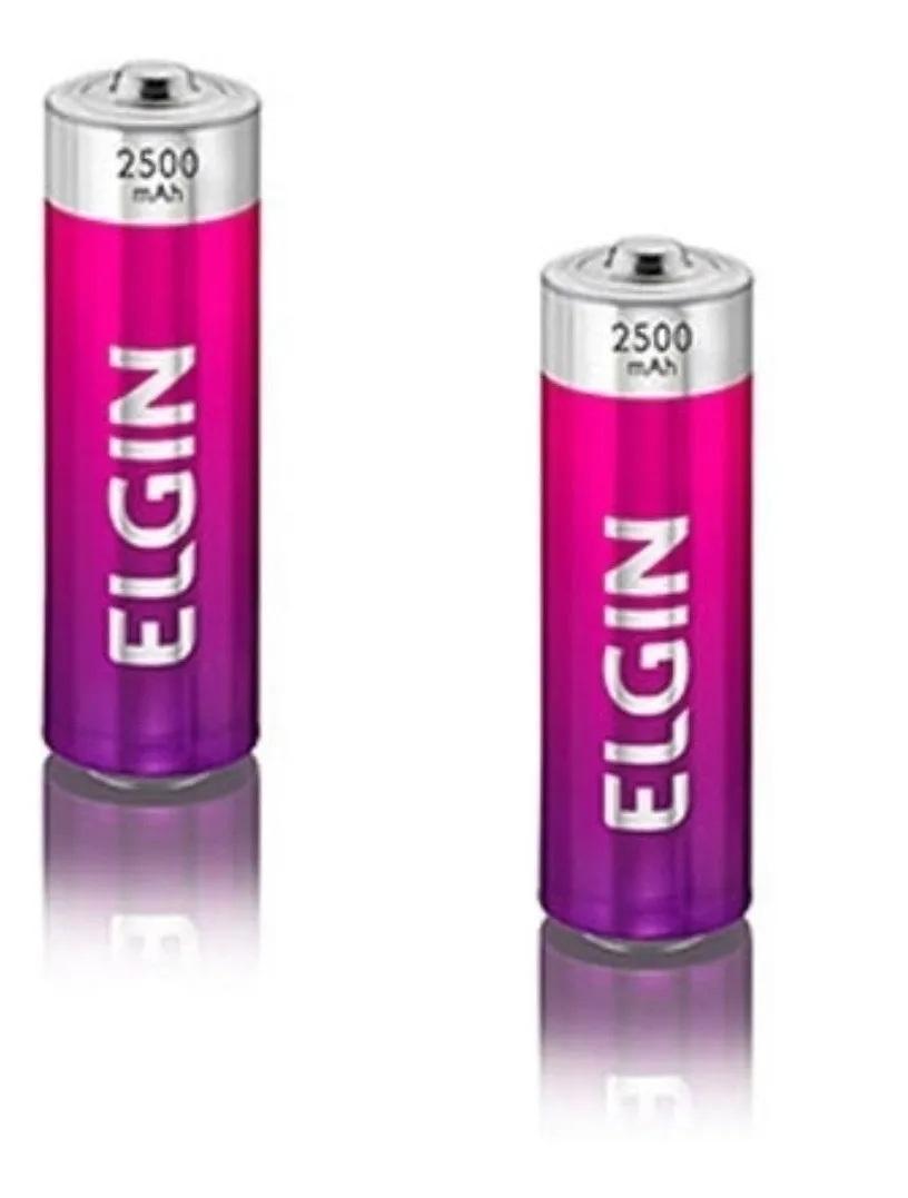 12 Pilhas AA 2500 Mah Recarregável Elgin