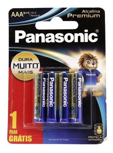 Kit 12 Pilhas Aaa Panasonic Alcalina Premium Leve 12 Pague 9 Pilhas
