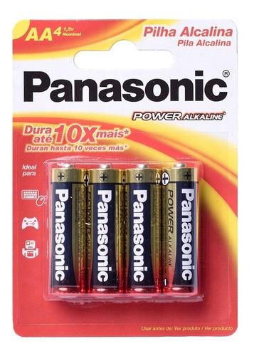12 Pilhas Aa Alcalina Panasonic Pequena Original Promoção