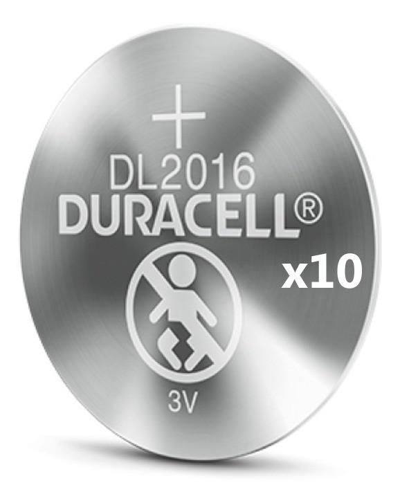12 Pilhas Cr 2016 Duracell 3v Bateria De Lítio Moeda Dl 2016