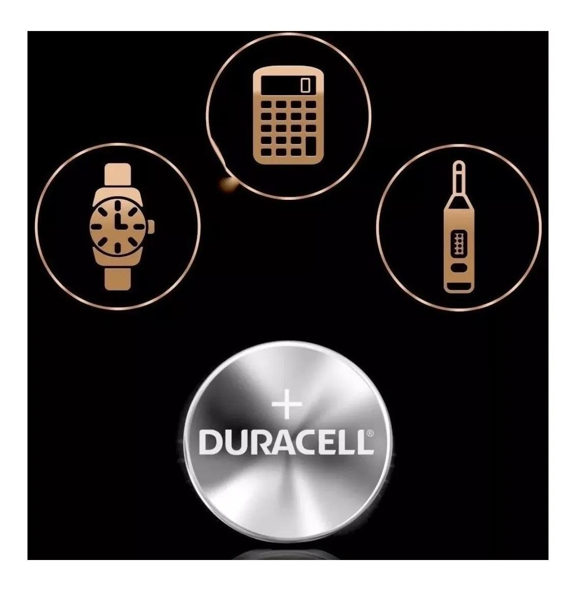 12 Pilhas Cr2025 Duracell 3v Lithium Bateria Moeda Cartela