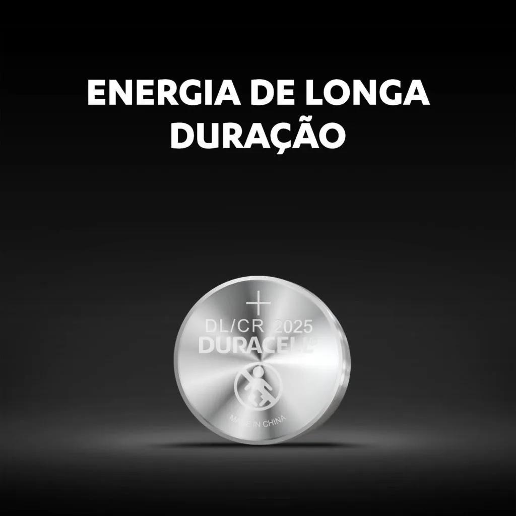 12 Pilhas Cr 2025 Duracell 3v Lithium Bateria Moeda Cartela