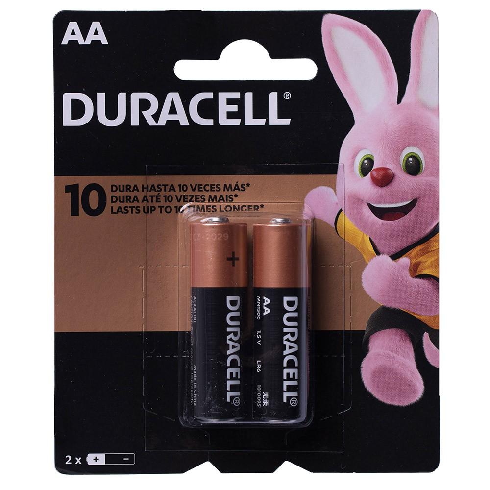12 Pilhas Duracell Alcalina Pequena AA Cartela com 2 Atacado