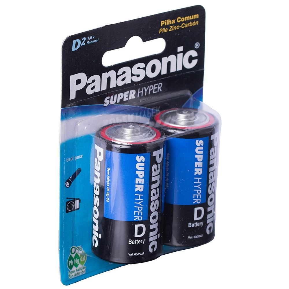 12 Pilhas Grande D LR15 Panasonic para Rádio Brinquedos